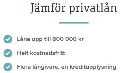 advisa jämför privatlån
