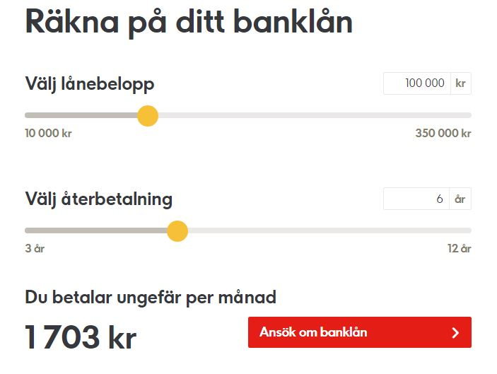 ikano räkna på lånet