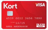 Ikano kreditkort kortet