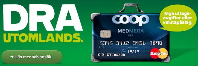 coop kreditkort resekort