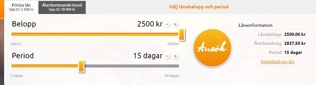 låna pengar 500kr