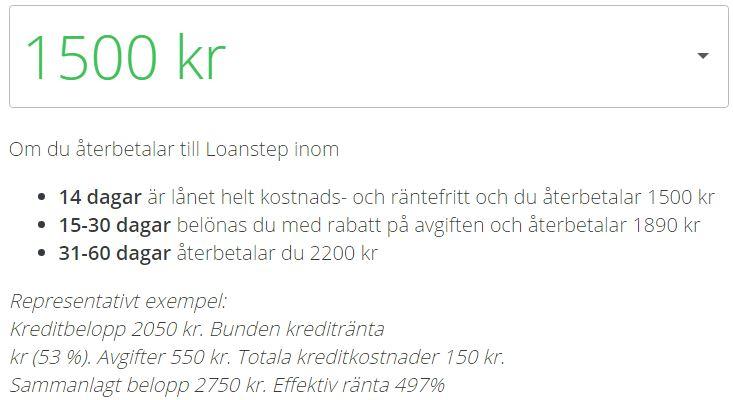 loanstep låna 1500
