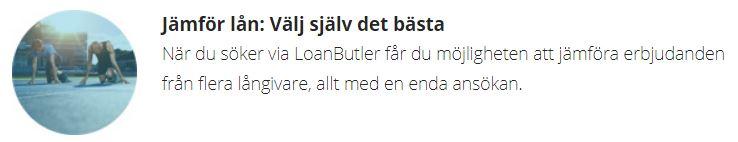 loanbutler jämför lån