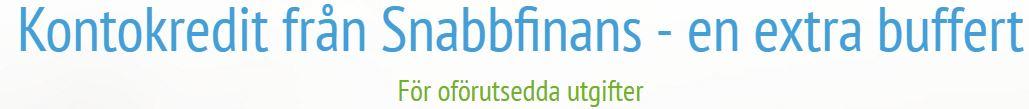 snabbfinans kontokredit slogan