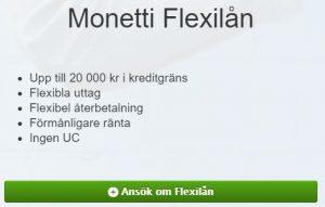 monetti flexlån reklam