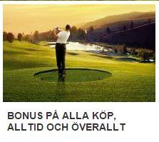 more golf bonus på alla köp